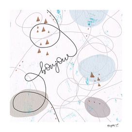 Minimalist Bonjour Organic Abstract Curves and Shapes