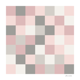 Dusty Rose, Rose and Grey Squares
