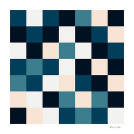 Blue & Neutral Squares II