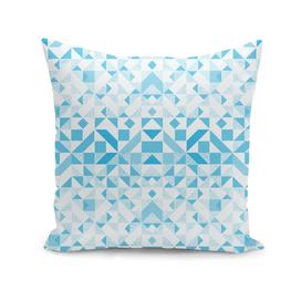 abstract  geometric blues