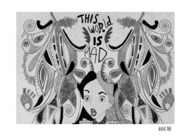 Alice In Wonderland Black and White