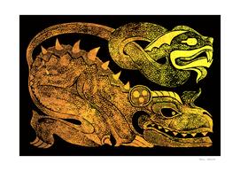 Golden two-headed dragon - Ehecatl