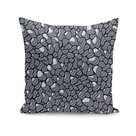 Pebble Extrusions Black and White