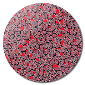 Pebble Extrusions Red and Black