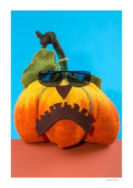 Pumpkin handmade from felted wool