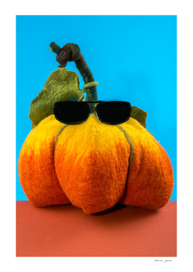 Pumpkin handmade from felted wool
