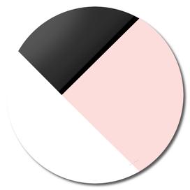 Blush meets Black & White Geometric #1 #minimal #decor #art