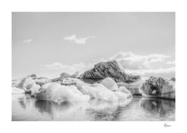 Icebergs II (black and white version)