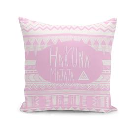 Hakuna Matata Pink Tribal