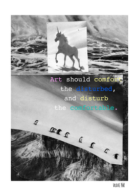 Art Should Mindset Collage unicorn
