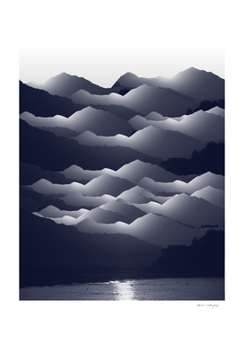 Navy Blue Mountains #2 #decor #art
