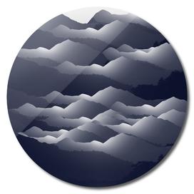 Navy Blue Mountains #2 #decor #art