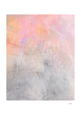 Pastel Candy Iridescent Marble on Concrete