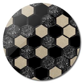 Hexagon Glitter Glam #1 #geometric #decor #art