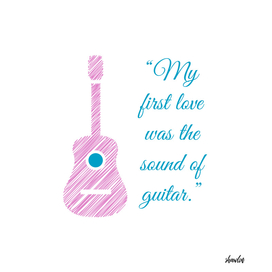 Musical quote and guitar