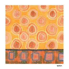 Flying Orange Circles