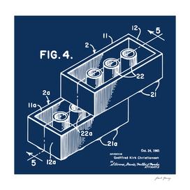 Lego Building Block Patent Print