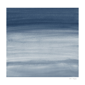Touching Navy Blue Watercolor Abstract #1 #painting #decor