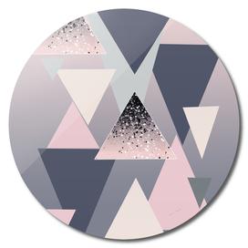 Geometric Triangles Glitter Dream #1 #minimal #decor #art