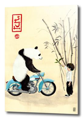 Óliver and the panda