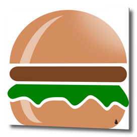 Hamburger fast food a sandwich