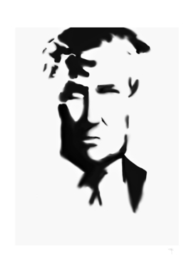 36 - Donald Trump in black and white...with a frown...