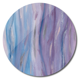 Touching Purple Blue Watercolor Abstract #2 #painting #decor