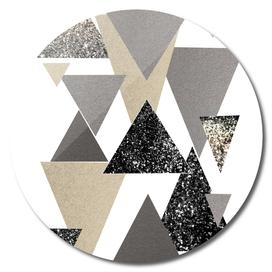 Geometric Triangles Glitter Dream #2 #minimal #decor #art