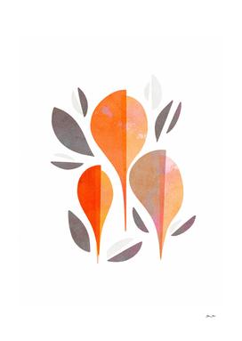 Minimal Autumnal Leaf Trio