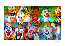 Great clowns of the circus work A