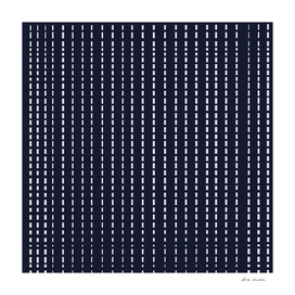 Dotted Lines on Dark Blue