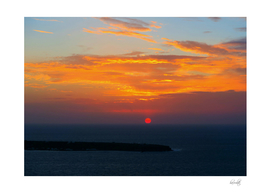 Sunset in Oia Santorini b