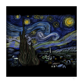 45 - Starry night by Vincent Van Gogh