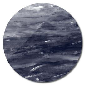 Navy Blue Watercolor Dream #1 #painting #decor #art