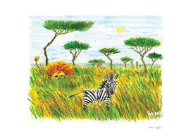 Careless zebra