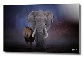 Lion & Elephant by GEN Z