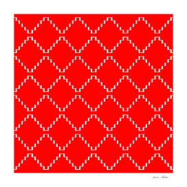 Abstract geometric pattern - red and white.