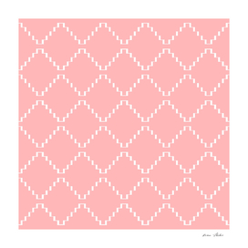 Abstract geometric pattern - pink and white.