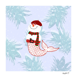 Snowman Mermaid