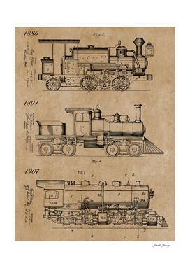 Vintage Trains Patent Drawings