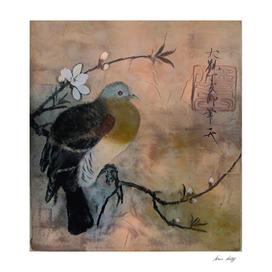 Bird on Sakura Tree