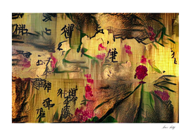 Oriental Painting. Japanese style