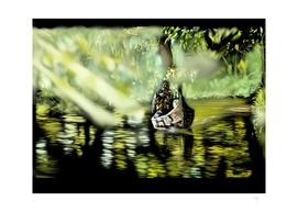 58 - Canoe through backwaters, Kerala