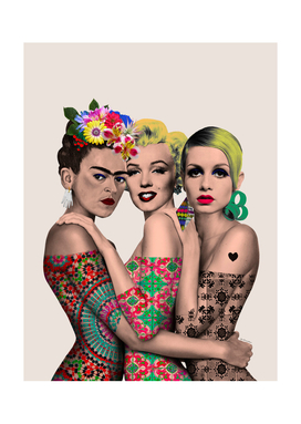 Kahlo, Monroe and Twiggy