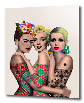 Kahlo, Monroe and Twiggy