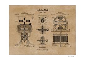 Nikola Tesla Electric Generator Inventions Patent Prints