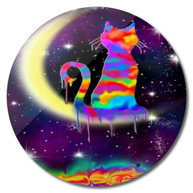 Rainbowmoon cat