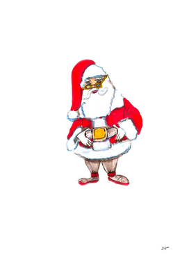 santa CLAUS HAND DRAWN BY SKETCH MARKER