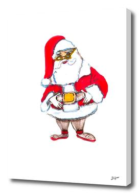 santa CLAUS HAND DRAWN BY SKETCH MARKER