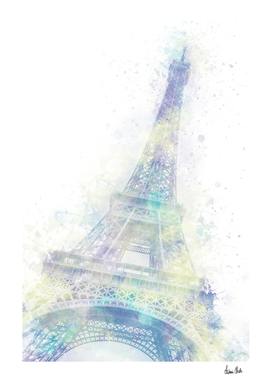Modern Art EIFFEL TOWER | watercolor